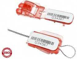 Lacres plásticos de segurança com arame - lacre fastlock